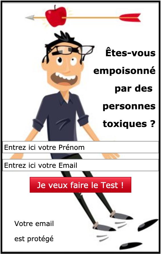 Formulaire d'inscription au Test Intoxication par des Personnes Toxiques