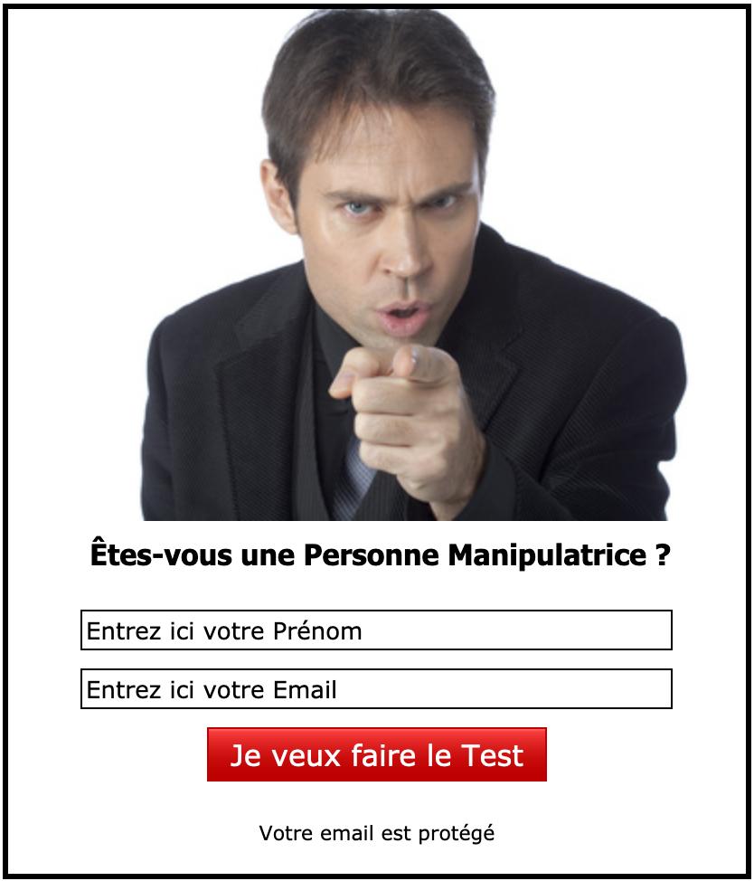 Formulaire d'inscription au Test de la Personne Manipulatrice
